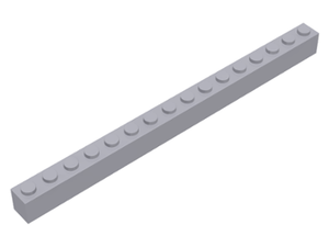 LEGO Brick 1 x 16 [Light Bluish Gray] [2465]