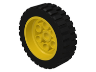 LEGO Wheel 30mm D. x 13mm (13 x 24 Model Team), with Black Tire 13 x 24 Model Team (2695 / 2696) [Yellow] [2695c01]
