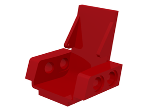 LEGO Technic Seat 3 x 2 Base [Red] [2717]
