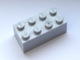 LEGO Brick 2 x 4 [Pearl Light Gray] [3001]