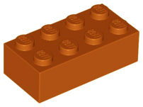 LEGO Brick 2 x 4 [Dark Orange] [3001]