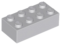 LEGO Brick 2 x 4 [Light Bluish Gray] [3001]