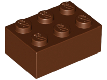 LEGO Brick 2 x 3 [Reddish Brown] [3002]