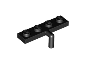 LEGO Plate, Modified 1 x 4 with Arm Down [Black] [30043]
