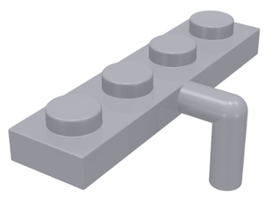 LEGO Plate, Modified 1 x 4 with Arm Down [Light Bluish Gray] [30043]