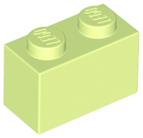 LEGO Brick 1 x 2 [Yellowish Green] [3004]