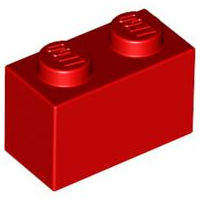 LEGO Brick 1 x 2 [Red]  [3004]