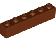 LEGO Brick 1 x 6 [Reddish Brown] [3009]
