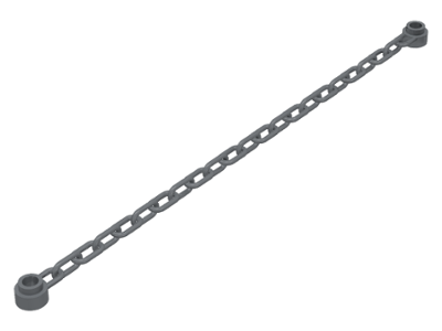 LEGO Chain 21 Links (16-17L) [Dark Bluish Gray] [30104]