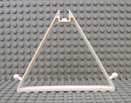 LEGO Belville Tent Frame 1 x 12 x 8 Triangle with Recessed Top Stud, Towball on Sides [White] [30108]