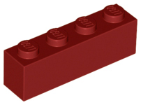 LEGO Brick 1 x 4 [Dark Red] [3010]