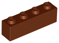 LEGO Brick 1 x 4 [Reddish Brown] [3010]