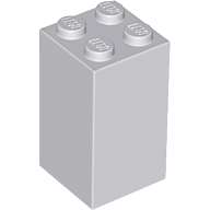 LEGO Brick 2 x 2 x 3 [Light Bluish Gray] [30145]