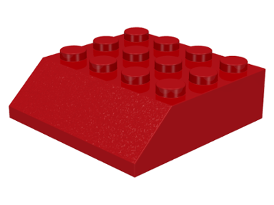 LEGO Slope 45 4 x 4 [Red] [30182]
