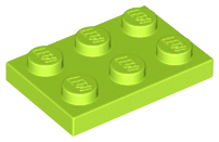 LEGO Plate 2 x 3 [Lime] [3021]