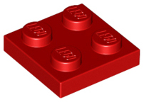 LEGO Plate 2 x 2 [Red]  [3022]