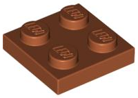 LEGO Plate 2 x 2 [Dark Orange] [3022]