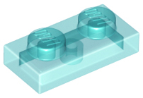 LEGO Plate 1 x 2 [Trans-Light Blue] [3023]