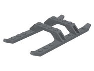 LEGO Helicopter Sled Rails 12 x 6 [Dark Bluish Gray] [30248]