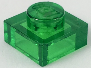 LEGO Plate 1 x 1 [Trans-Green] [3024]