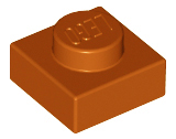 LEGO Plate 1 x 1 [Dark Orange] [3024]