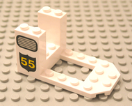 LEGO Cockpit 7 x 4 x 3 with Grille and 55 Pattern [White] [30250px1]