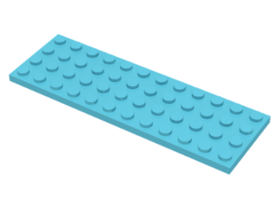 LEGO Plate 4 x 12 [Medium Azure] [3029]