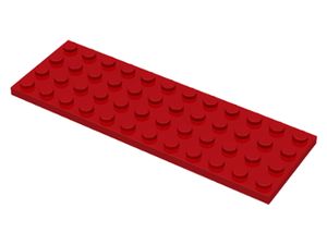 LEGO Plate 4 x 12 [Red] [3029]