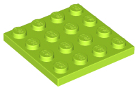 LEGO Plate 4 x 4 [Lime] [3031]