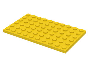 LEGO Plate 6 x 10 [Yellow] [3033]