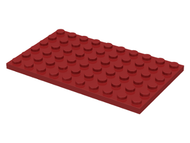 LEGO Plate 6 x 10 [Dark Red] [3033]