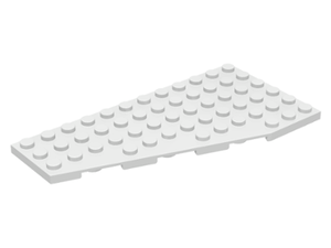 LEGO Wedge, Plate 12 x 6 Left [White] [30355]