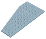 LEGO Wedge, Plate 12 x 6 Right [Sand Blue] [30356]