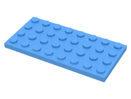 LEGO Plate 4 x 8 [Medium Blue] [3035]