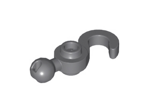 LEGO Hook with Towball [Dark Bluish Gray] [30395]