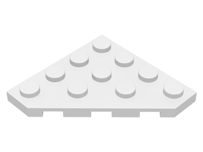 LEGO Wedge, Plate 4 x 4 Cut Corner [White] [30503]