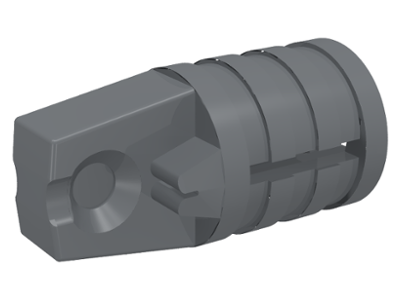 LEGO Hinge Cylinder 1 x 2 Locking with 1 Finger and Axle Hole on Ends [Dark Bluish Gray] [30552]