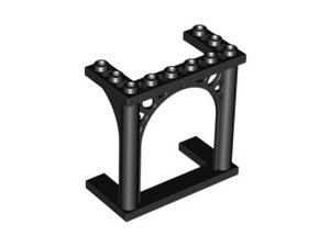 LEGO Brick, Arch 3 x 6 x 5 Ornamented [Black] [30613]