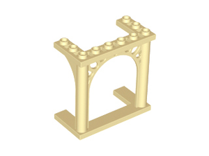 LEGO Brick, Arch 3 x 6 x 5 Ornamented [Tan] [30613]