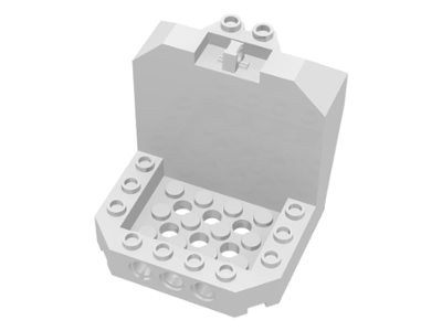 LEGO Cockpit 6 x 6 x 5 with Hinge [White] [30619]