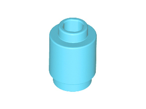 LEGO Brick, Round 1 x 1 Open Stud [Medium Azure] [3062b]