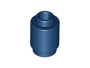 LEGO Brick, Round 1 x 1 Open Stud [Dark Blue] [3062b]
