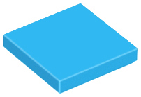 LEGO Tile 2 x 2 with Groove [Dark Azure] [3068b]