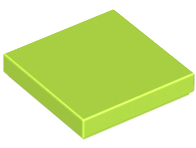 LEGO Tile 2 x 2 with Groove [Lime] [3068b]