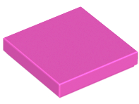 LEGO Tile 2 x 2 with Groove [Dark Pink] [3068b]