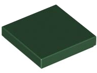 LEGO Tile 2 x 2 with Groove [Dark Green] [3068b]