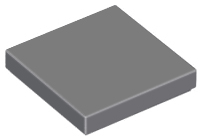 LEGO Tile 2 x 2 with Groove [Dark Bluish Gray] [3068b]