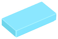 LEGO Tile 1 x 2 with Groove [Medium Azure] [3069b]