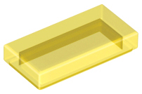 LEGO Tile 1 x 2 with Groove [Trans-Yellow] [3069b]
