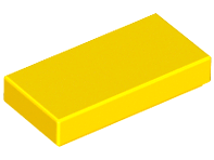 LEGO Tile 1 x 2 with Groove [Yellow] [3069b]